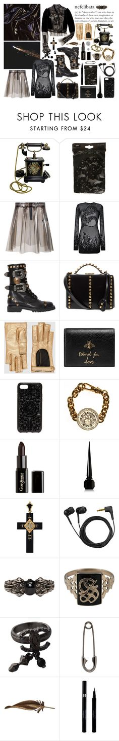 """rich soul"" by nothingisnormal ❤ liked on Polyvore featuring American Retro, Filles à papa, FAUSTO PUGLISI, Mark Cross, Gucci, Felony Case, Vivienne Westwood, Gorgeous Cosmetics, Christian Louboutin and Sennheiser"