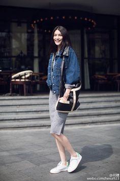 Korean Fashion Tips .Korean Fashion Tips Look Fashion, Korean Fashion, Trendy Fashion, Fashion Outfits, Fashion Tips, Net Fashion, Fashion Vintage, Fashion Hacks, Classy Fashion