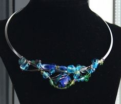 Blue-green necklace. $50.00, via Etsy.  (Holidays sale: 20% off & free shipping)
