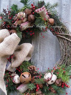 Weihnachtskranz Urlaub Kranz Schneemann Jingle von NewEnglandWreath