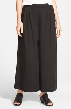 Eileen Fisher Wide Leg Ankle Pants (Regular & Petite) available at…