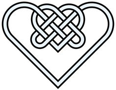 Double-heart - celtic knot - 10 crossing