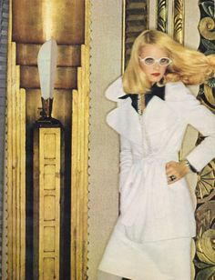 Golden girl Gunilla Lindblad made even more golden by Helmut Newton, 1972.