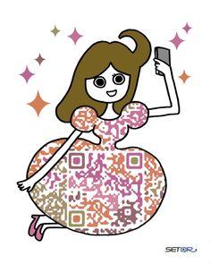 Kao (Japan) Custom QR Code by SETQR http://www.setqr.com