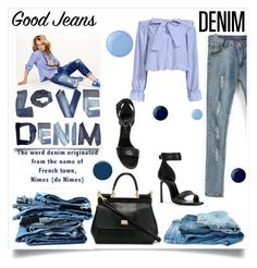 """High Waisted Jean"" by viktorija-lukas ❤ liked on Polyvore featuring moda, Maison Scotch, Lanvin, Dolce&Gabbana, Essie y Burberry"