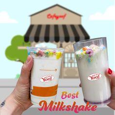 Best Milkshake Best Milkshakes, Flavored Milk, Dunkin Donuts Coffee, Coffee Cups, Drinks, Food, Coffee Mugs, Beverages, Essen