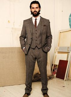 taupe mens suit - Google Search