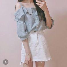 Korean fashion Korean Fashion Trends, Korean Street Fashion, Korea Fashion, Asian Fashion, Cute Fashion, Girl Fashion, Fashion Looks, Fashion Outfits, Womens Fashion