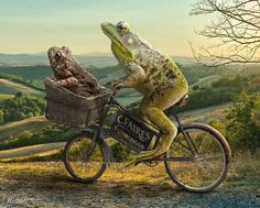 Funny Photo manipulation Funny Photo manipulations are fun to create and fun to look at. Using photoshop you can do lots of creative and fun stuff. Sapo Frog, Frog Pictures, Funny Frogs, Frog Art, Frog And Toad, Cycling Art, Photoshop Design, Photo Manipulation, Funny Photos