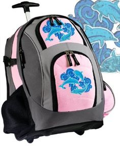 928ea484442 University of Arkansas Rolling Backpack Deluxe Pink Arkansas Razorbacks - Backpacks  Bags with Wheels or School Trolley Carry-On Suitcase Bags - Unique ...