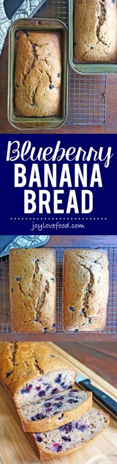 Blueberry Banana Bread - soft, delicious and bursting with blueberries, this fragrant bread is perfect for a quick breakfast or snack anytime.