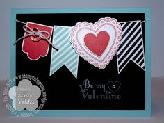 Hearts a Flutter Valentine's card by genny_01 - Cards and Paper Crafts at Splitcoaststampers