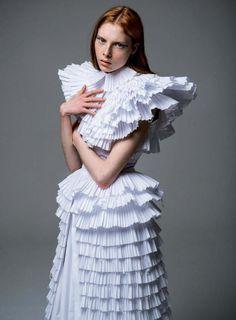 Konstantinos Melis by Laskos haute couture for Votre Beaute magazine . Love Fashion, Victorian, Bride, Draping, House Styles, Textile Design, Fabric, Magazine, Dresses