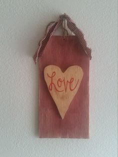 Valentine's Day Rustic Wood Sign Wall Decor Ready to by BabyRaggz