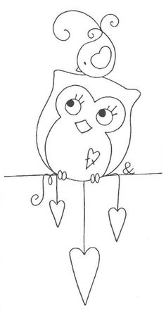 net by Rosi Patchwork & Quilting, mothersday Cross Stitch Embroidery, Hand Embroidery, Embroidery Designs, Motifs D'appliques, Owl Crafts, Applique Patterns, Felt Patterns, Owl Applique, Digi Stamps