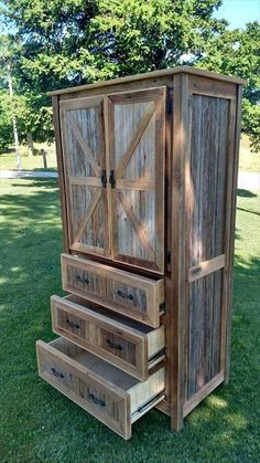 DIY Barn Wood Projects You can Make at Home – SimplePallets - Pallet Furniture Wooden Pallet Projects, Wooden Pallet Furniture, Pallet Crafts, Recycled Furniture, Rustic Furniture, Furniture Ideas, Pallet Ideas, Outdoor Projects, Pallet Dresser