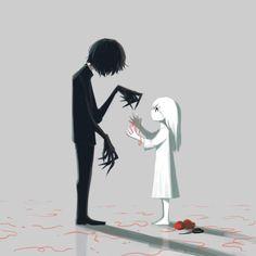 108 Powerful Illustrations By Japanese Artist That Will Make You Think Arte Horror, Horror Art, Dark Art Illustrations, Illustration Art, Sad Anime, Anime Art, Thicc Anime, Anime Demon, Image Triste