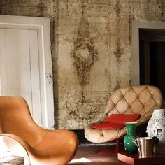 Wall & Decò's Borgia wallpaper can give you the look of centuries of decay—all in a day's work!