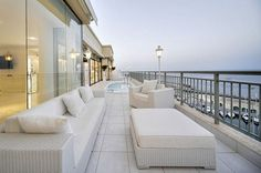 Luxury penthouse patio furniture balcony