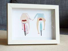 Happy Bikes Framed Print. $25.00, via Etsy.