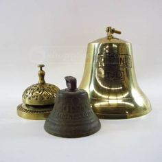 Titanic...3 brass bells - I have a replica of the bell on the right!