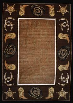 Gilded Star Western Area Rug for Ranch or HomeCool Designs