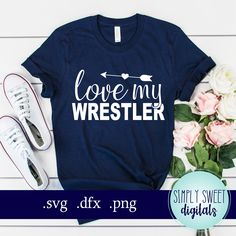 Wrestling Mom Shirts, Wrestling Quotes, Football Shirts, Love My Boys, Sports Mom, Wwe Wrestlers, Wakeboarding, Diy Shirt, Silhouette Projects
