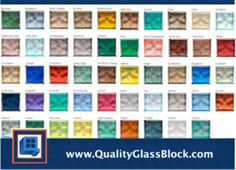 1000 images about quality glass block color blocks on for Glass block options