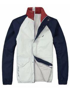 Nautica chaqueta reversible de hombre   white-navy Motorcycle Jacket, Gentleman, Jackets, Fashion, Men, Down Jackets, Moda, Fashion Styles