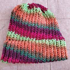 Double brim beanie knit with Bernat Softee Chunky yarn Bernat Softee Chunky Yarn, Loom Knitting, Knit Beanie, Knitted Hats, Knit Crochet, Pattern, Loom, Knit Hats, Patterns