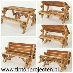 Superleuk en praktisch.. de opvouwbare Picknick Tafel. In een handomdraai van bank naar tafel.