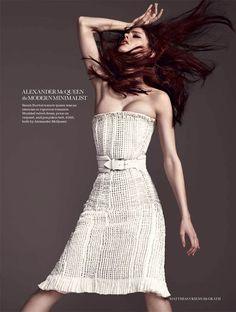 Coco Rocha by Matthias Vriens McGrath for Elle UK August 2011 #editorial #fashion #studio