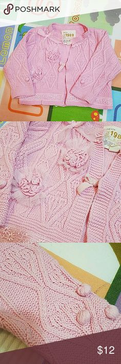 Pink sweater Beautiful sweater for cute little girl. In great condition. No flaws. Est. 1989 Place Shirts & Tops Sweaters