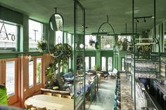 Studio Modijefsky reflects tropical scenery at Bar Botanique