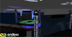 Activation event set up, customized for a specific event. #eventpros #events #CAD #custom #design #stagedesign