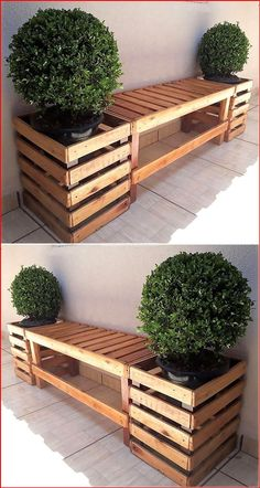 Diy Pallet Projects, Garden Projects, Art Projects, Garden Ideas, Outdoor Wood Projects, Palette Projects, House Projects, Project Ideas, Pallet Garden Furniture