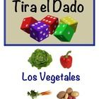 Spanish Speaking Activity with Dice for Small Groups: Vege