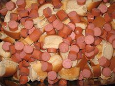 Chili Dog Casserole - hotdog buns, hotdogs, chili & cheese 30mins @350 recipe from Operation $40K