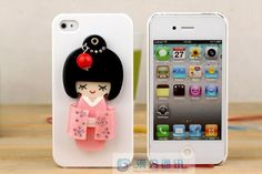 Unique diamond mobile phone cases with Kimono girl - China unique mobile phone case