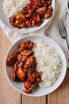 Mall Chicken Teriyaki - (to lower carbs use Molasses and Stevia to taste instead of brown sugar) - Our recipe for the quintessential chicken teriyaki you love to get at malls across America. Make our mall chicken teriyaki at home, with just 9 ingredients! Asian Recipes, Healthy Recipes, Asian Chicken Recipes, Easy Recipes, Ethnic Recipes, Good Food, Yummy Food, Asian Cooking, Dinner Recipes