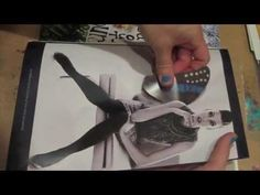 working in my collage journal - part 3 - YouTube