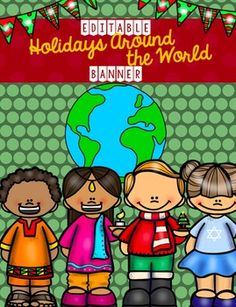 """Dress up any """"Holidays Around the World"""" Bulletin Board or create an intriguing entryway to any activity room with this…"""