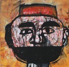 Raouf Rifai, 'Darwish 11', acrylic on canvas, 50 cm x 50 cm