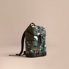 Burberry Leather Trim Lightweight Backpack