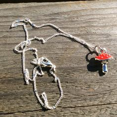 Toadstool necklace  fairy necklace  woodland  by TheDorothyDays
