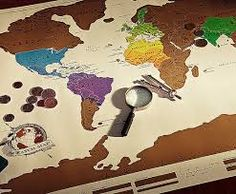 World scratch map canvas prints art fba amazon pinterest image result for scratch off world map gumiabroncs Choice Image