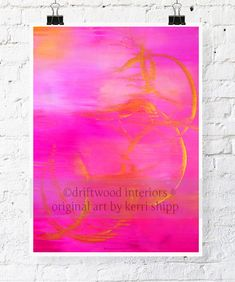 """Pink and Gold Watercolor Print """"In Motion"""" 11 x 14 - Abstract Watercolour - PInk Abstract Art - Modern Art Print"""