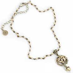Sweet Romance Ivory Tea Rose Necklace N1088 ($48) ❤ liked on Polyvore featuring jewelry and necklaces