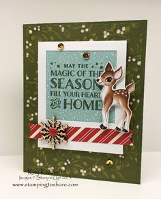Home for Christmas Designer Series Paper with a Cozy Christmas Card PLUS the How To Video!, Stampin' Up!, Kay Kalthoff, #stampingtoshare