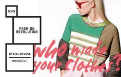 Fashion Revolution Day - do you know who made your clothes?